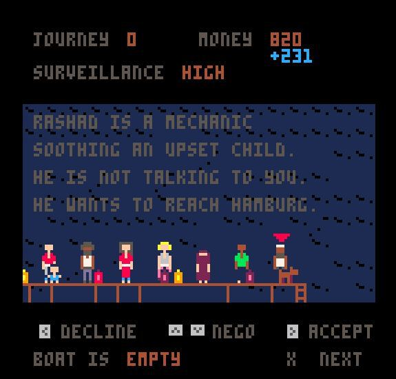 """Article: Leigh Alexander about """"Passengers"""", a game about migrants"""