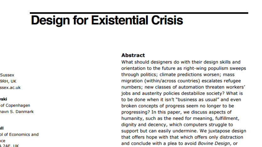 Article: Design for Existential Crisis